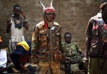 Les miliciens Anti-Balaka à Bangui le 4 fevevrier 2014 afp