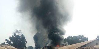 Ville de Ndélé après les affrontements entre les groupes armés, le 4 mars 2020. Photo CNC / Moïse Banafio