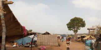 Le camp des personnes déplacées proche de la base de la Minusca à Ndélé, le 13 mars 2020. Photo CNC / Moïse Banafio.