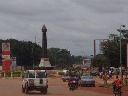 Croisement des Martyrs, Bangui, République centrafricaine. Photo CNC / Michael Kossi.