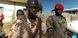 Des combattants rebelles du FPRC à Ndélé le 5 aout 2017. Photo CNC / CopyrightCNC