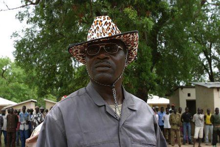 Le général Damane Zakaria, chef et fondateur de l'Union des forces démocratiques pour l'unité (UFDR) dans son village natal de Boromata, au nord-est de la République centrafricaine, à environ 100 km de Birao, près du Soudan