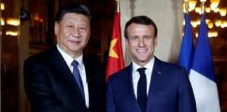 Le Président Emmanuel Macron, à droite, et le Président chinois Xi Jinping, à gauche, le 24 mars 2019 en France.