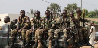 les soldats de l'armée Centrafricaine le 8 janvier 2013 pour Reuters IMG_4088