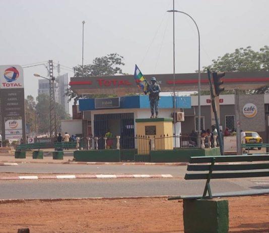 Rondpoint du quatrième arrondissement de Bangui. Photo CNC / Mickael Kossi.