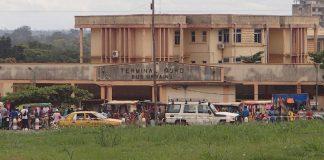 Terminus nord des bus au centre-ville de Bangui, en République centrafricaine. Photo CNC