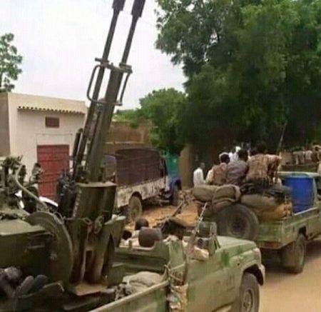 Véhicule militaire des rebelles du RPRC à Ndélé, le 11 mars 2020. Photo CNC.