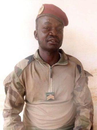 Adjudant Tiakpa Blaise, ancien commandant de zone des anti-balaka dans le cinquième arrondissement de Bangui, au quartier Malimaka.