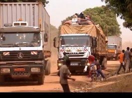 convoi Douala-Bangui sur l'axe Bouar-Gallo. Photo CNC