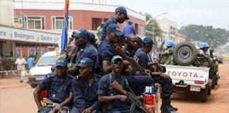 Une équipe de patrouille de la LGM (légion de la gendarmerie mobile )à Bangui. Photo du CNC / Mickael Kossi
