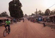 Ville de Paoua, au nord-ouest de la République centrafricaine.