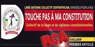 collectif touche pas à ma constitution en Centrafrique bannière