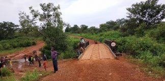 Pont construit par l'expertise France dans le Mbomou, au sud-est de la République centrafricaine. Photo Ambassade de France.