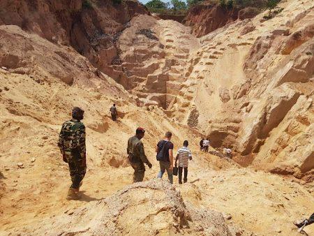 Exploitation minière de la société russe Lobaye Invest à Ndassima, aux environs de Bakala, dans la préfecture de la Ouaka, au centre de la République centrafricaine. CopyrightCNC