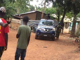 intervention des éléments de la gendarmerie au quartier Nguinda le lundi 20 avril 2020 à 09h