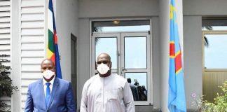 Arrivée du chef de l'État centrafricain, Faustin Archange Touadera, à Kinshasa, en République démocratique du congo, le 22 avril 2020. Photo : Pcongo