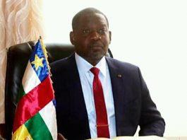 le premier ministre firmin ngrebada à bangui le 18 avril 2020 par la primature de la république centrafricaine