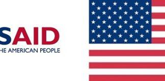 logo de l'USAID combiné avec le drapeau des États unis
