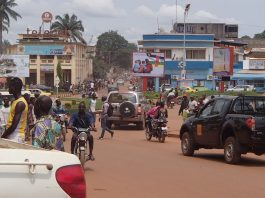Vue du centre-ville de Bangui vers l'avenue David Dacko. Photo CNC / Mickael Kossi