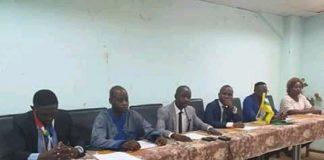 Les 6 membres du bureau provisoire du CLESSA-FJ. Jefferson CyrilleYapende