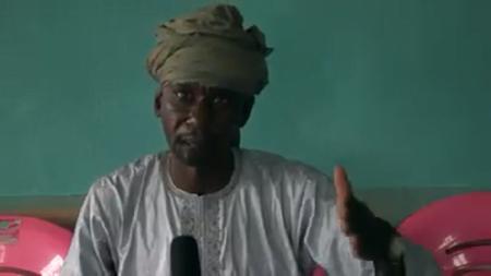 Abass Sidiki, chef d'État major du mouvement 3R, le 11 juin 2019 à Kouoi, dans la préfecture de l'Ouham-Pendé. Photo CNC / Gervais Lenga