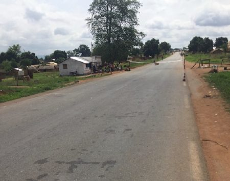 barrière checkpoint gendarmes de Gallo dans la nan mambéré le 17 avril 2020 par cnc