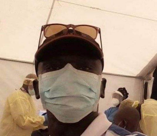 Dans la salle du dépistage Covid-19 à Béloko, à la frontière avec le Cameroun le 7 mai 2020.