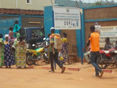 direction de police judiciaire dspj bangui centrafrique le 18 juillet 2019 par micka pour corbeaunews