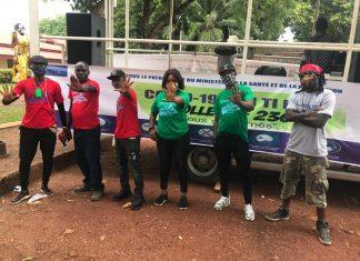 CARAvane des artistes de l'union européenne sur le Covid-19 en Centrafrique.