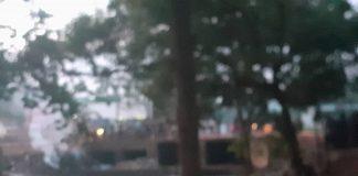 Le corps de la victime se trouvait à quelques mètres du pont de Ngoubagara sur l'avenue des martyr le 8 juin vers 17h30. Photo CNC - Anselme Mbata