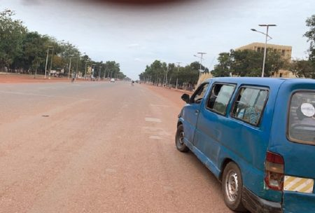 Avenue des martyrs à Bangui, le 11 mai 2020. Photo CNC / Anselme Mbata.