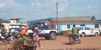 Environnement de l'incident devant le commissariat du 5ème arrondissement de Bangui. Photo CNC / Mickaël Kossi