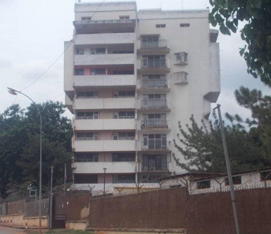 immeuble abritant l'ambassade de la Russie en Centrafrique