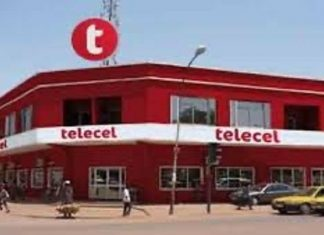 siège social de la Télécel à Bangui. Photo CNC / Fortuné Bobérang.