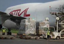 Image de l'avion transportant le deuxième don humanitaire européen . CopyrightUE-RCA.