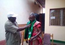 L'intronisation de la nouvelle porte-parole du MLPC, Lucie AGBO par le 2ème Vice-président dudit Parti Jackson MAZETTE.