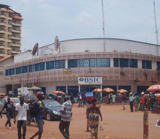 banque BSiccentre-ville de Bangui. Photo CNC / Mickael Kossi.