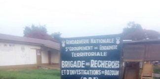 Brigade de recherche et d'investigation de Bozoum. Photo CNC