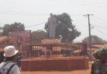 Rondpoint du marché Pété vo, dans le sixième arrondissement de Bangui. Photo CNC / Anselme Mbata
