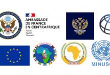 G5-RCA groupe des parténaires de la Centrafrique drapeaux