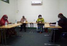 Les leaders réligieux de Centrafrique lors de la conférence de presse relative à la journée de prière et pardon sur la COVID-19. Copyright CNC/ Jefferson Cyrille YAPENDE.