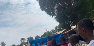 centre d'enrôlement des électeurs quartier galabadja terrain sans cas le 12 juillet 2020