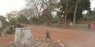 Lors des affrontements entre les rebelles du PRNC etFPRC à Ndélé en avril 2020. Photo CNC / Moïse Banafio