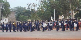 Défilé militaire du 01 mai 2019 sur l'avenue des martyrs à Bangui. Photo CNC / Anselme Mbata
