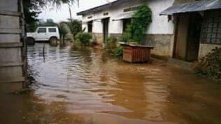 Inondation dans un quartier du sixième arrondissement de Bangui en juillet 2019. Photo CNC / Anselme Mbata