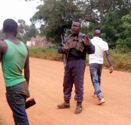 intervention des forces de l'ordre dans le village situé à 21 kilomètres de berbérati