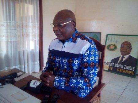 Le Président du mouvement de libération du peuple centrafricain Martin Ziguelé, le 02 août 2020 à Bangui. Photo CNC / Jefferson Cyrille Yapendé