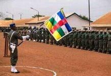les élèves gendarmes à Kolongo à Bangui le 7 mars 2020.
