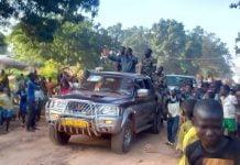 L'ex Président de la République François Bozizé en caravane à Bossangoa copyright CNC/ Jefferson Cyrille YAPENDE / 18/09/20