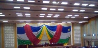 hémicycle de l'assemblée nationale lors du vote de la loi rectificative du code électoral le mercredi 23 septembre 2020. Photo CNC / Cyrille Jefferson Yapendé
